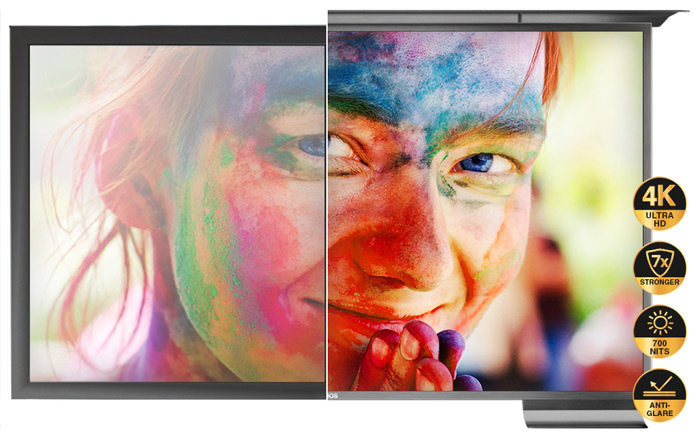 Anti-Glare TV for Outdoor Use.