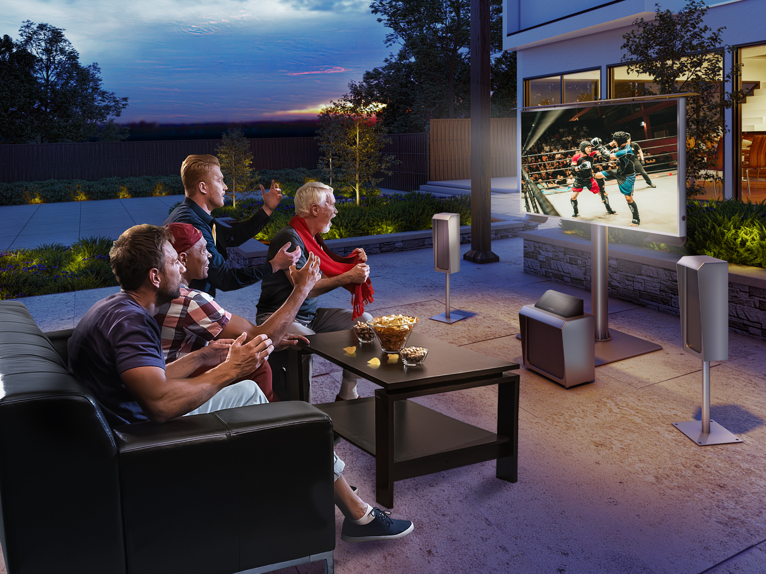 Thinnest outdoor TV with stunning finish.